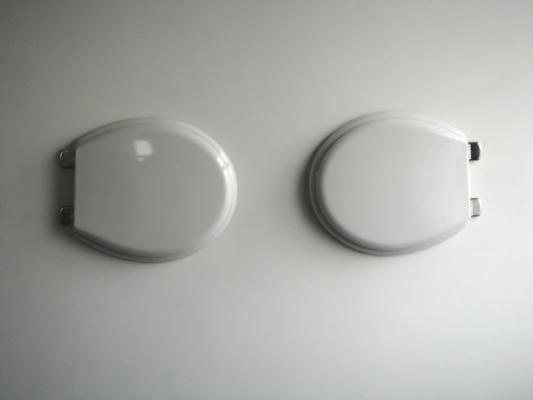 Jean-Lucien Guillaume : 2 héliogravures-2 lunettes de WC