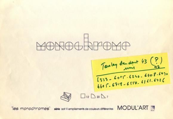 Jean-Lucien Guillaume : MODUL'ART® monochrome