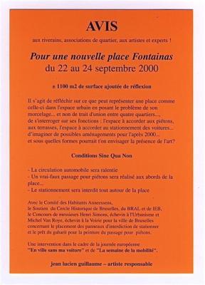Jean-Lucien Guillaume : AVIS, place Fontainas