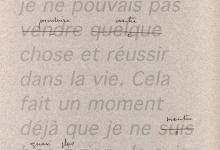 Jean-Lucien Guillaume event : Cinq mots barrés à M.B.